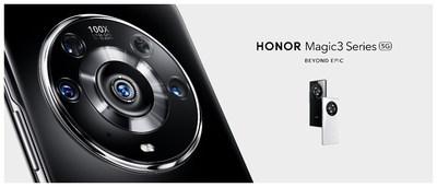La serie HONORMagic3 recientemente lanzada presenta las últimas innovaciones de HONOR. (PRNewsfoto/HONOR)